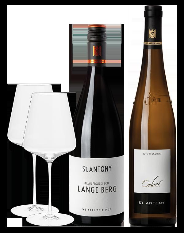 Glas und Wein Paket Nr. 3